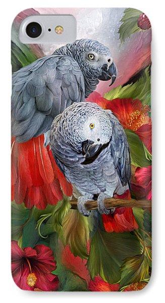 Tropic Spirits - African Greys IPhone 7 Case by Carol Cavalaris