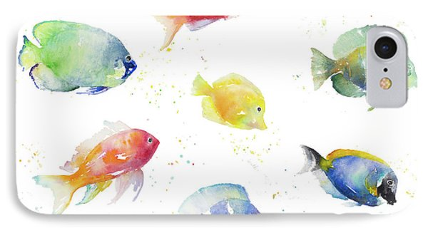 Tropical Fish Round IPhone Case by Lanie Loreth