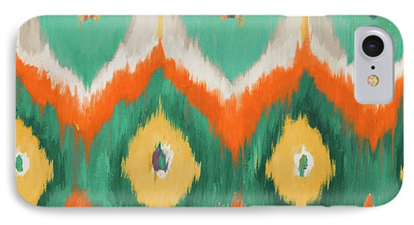 Tropical Ikat II IPhone Case by Patricia Pinto
