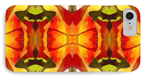 Tropical Leaf Pattern 7 Phone Case by Amy Vangsgard