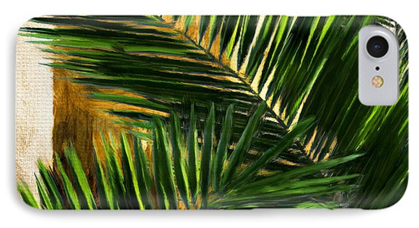 Tropical Leaves IPhone Case by Lourry Legarde
