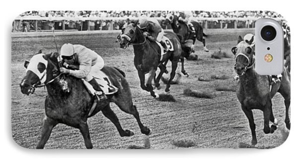 Tropical Park Horse Race IPhone Case by Underwood Archives