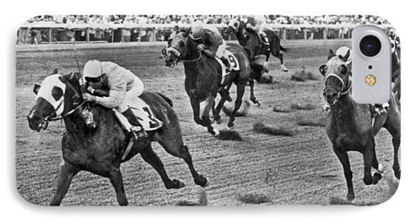 Tropical Park Horse Race Phone Case by Underwood Archives