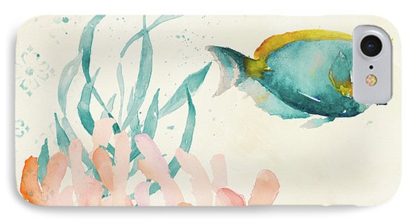 Tropical Teal Coral Medley II IPhone Case by Lanie Loreth