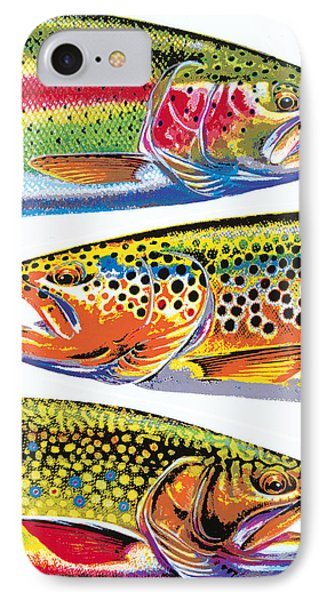 Trout Abstraction IPhone Case by JQ Licensing