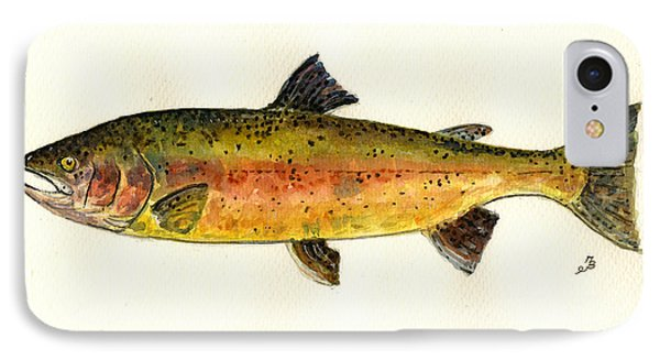 Trout Fish IPhone 7 Case by Juan  Bosco