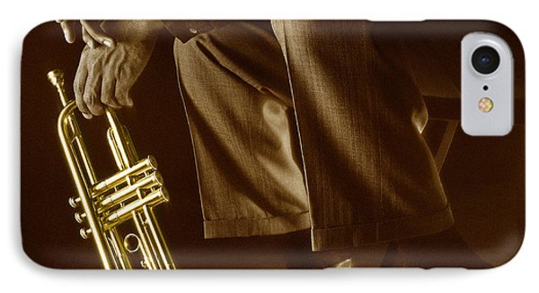 Trumpet 2 IPhone Case by Tony Cordoza