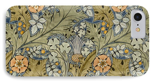 Tudor Roses Thistles And Shamrock IPhone Case by Voysey