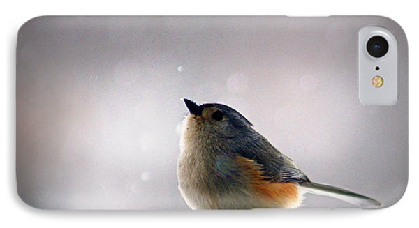 Tufted Titmouse IPhone 7 Case by Cricket Hackmann