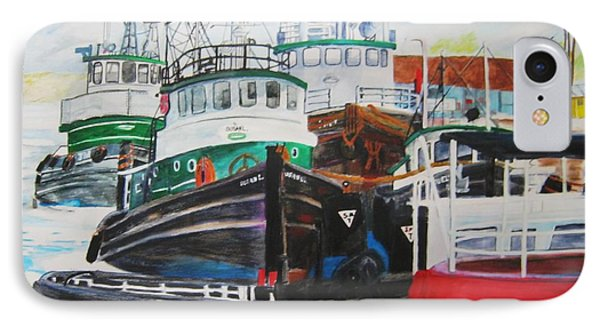 Tugs At Sturgeon Bay IPhone Case by Kathleen Barlament