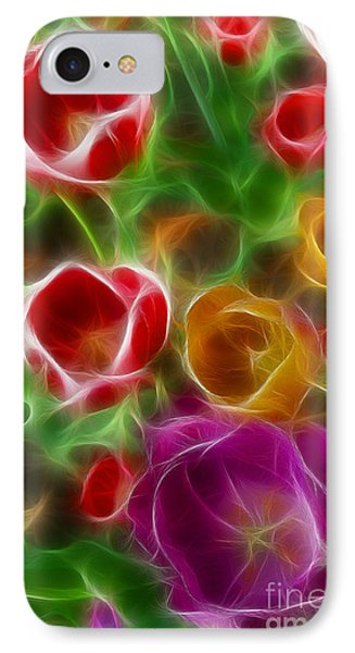 Tulips-6944-fractal Phone Case by Gary Gingrich Galleries