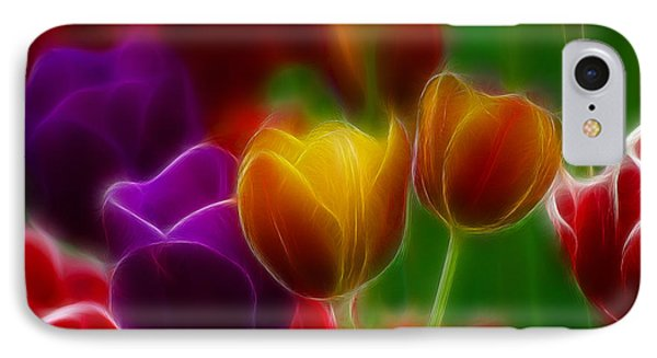 Tulips-7060-fractal Phone Case by Gary Gingrich Galleries
