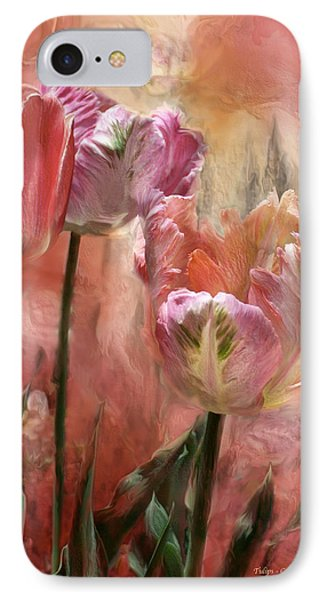 Tulips - Colors Of Love IPhone Case by Carol Cavalaris