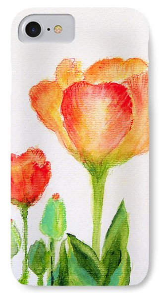 Tulips Orange And Red Phone Case by Ashleigh Dyan Bayer