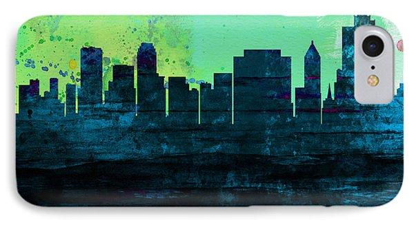 Tulsa City Skyline IPhone Case by Naxart Studio