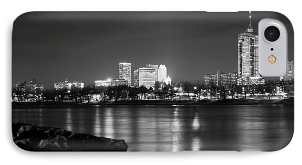 Tulsa In Black And White - University Tower View IPhone Case by Gregory Ballos