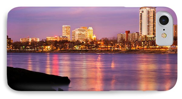 Tulsa Oklahoma - University Tower View IPhone 7 Case by Gregory Ballos
