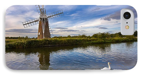 Turf Fen Drainage Mill IPhone Case by Louise Heusinkveld
