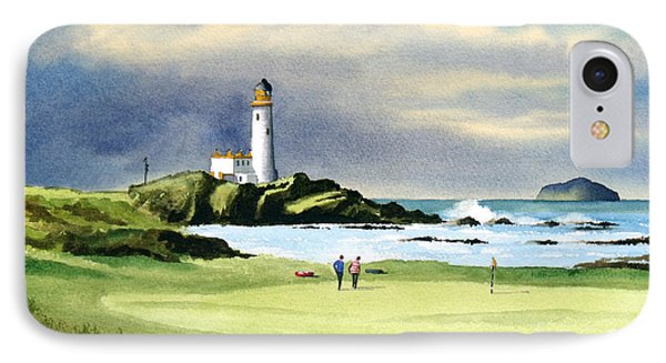 Turnberry Golf Course Scotland 10th Green IPhone Case by Bill Holkham