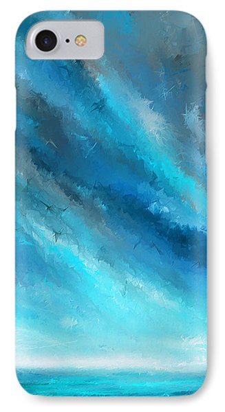 Turquoise Memories - Turquoise Abstract Art IPhone Case by Lourry Legarde