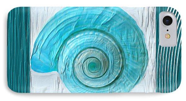 Turquoise Seashells Xvii IPhone Case by Lourry Legarde