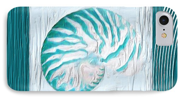 Turquoise Seashells Xxi IPhone Case by Lourry Legarde