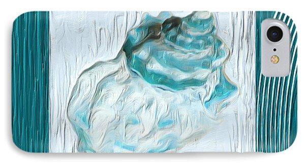 Turquoise Seashells Xxiv IPhone Case by Lourry Legarde