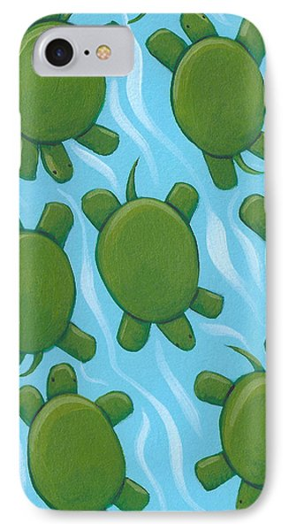 Turtle Nursery Art IPhone Case by Christy Beckwith