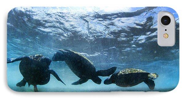 Turtle Trio IPhone Case by Sean Davey