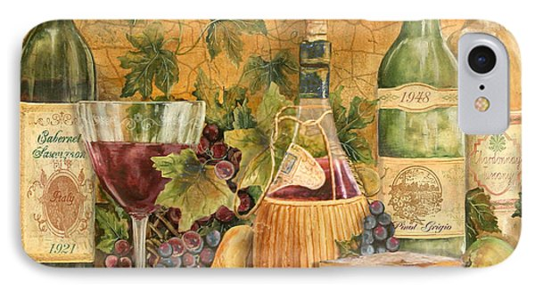 Tuscan In Vino Veritas IPhone Case by Jean Plout