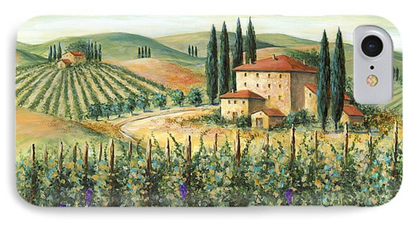 Tuscan Vineyard And Villa IPhone Case by Marilyn Dunlap