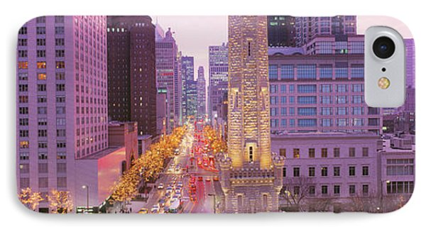 Twilight, Downtown, City Scene, Loop IPhone Case by Panoramic Images