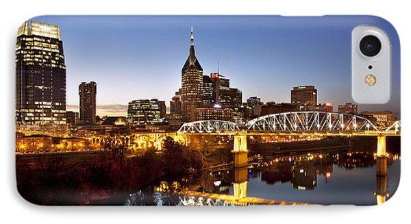 Twilight Over Nashville Tennessee Phone Case by Brian Jannsen