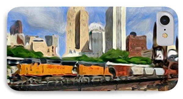 Twin Cities Train IPhone Case by Dennis Buckman