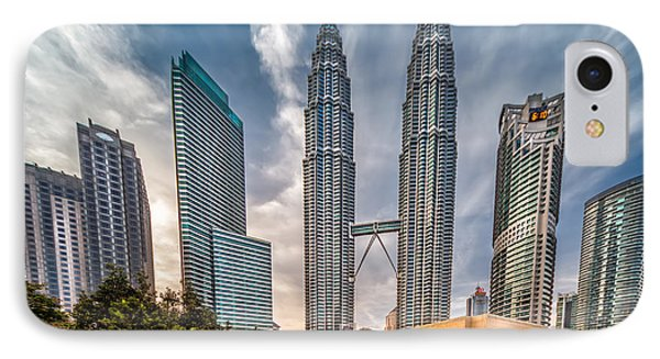 Twin Towers Kl IPhone Case by Adrian Evans