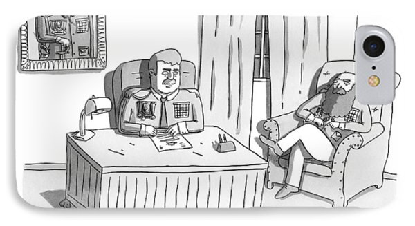 Two Army Generals Are Seen Sitting And Talking IPhone Case by Zachary Kanin