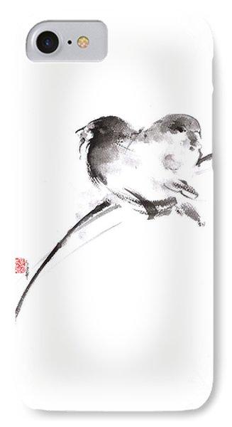 Two Birds Minimalism Artwork. IPhone Case by Mariusz Szmerdt
