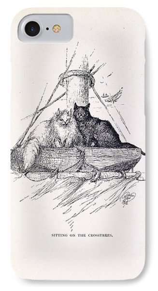 Two Cats IPhone Case by British Library