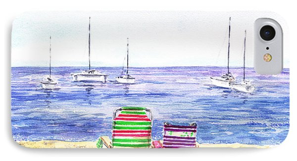 Two Chairs On The Beach IPhone Case by Irina Sztukowski