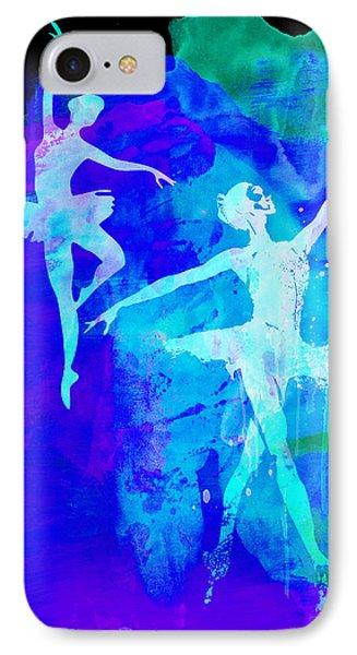 Two Dancing Ballerinas  IPhone Case by Naxart Studio