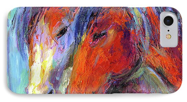Two Mustang Horses Painting IPhone Case by Svetlana Novikova