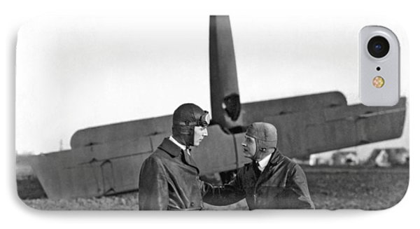 Two Pilots And A Plane Crash IPhone Case by Underwood Archives
