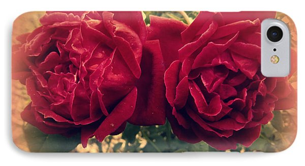 Two Roses. Happy Anniversary IPhone Case by Zina Stromberg