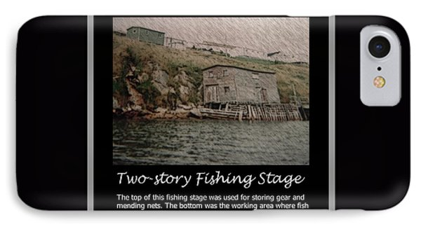 Two-story Fishing Stage Phone Case by Barbara Griffin