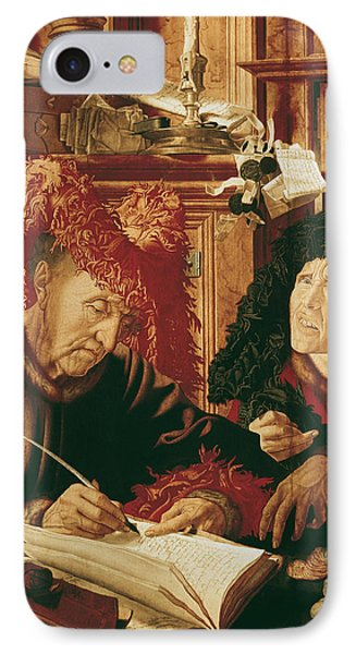 Two Tax Gatherers, C.1540 Oil On Panel IPhone Case by Marinus van Reymerswaele
