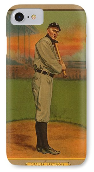 Ty Cobb Circa 1911 Phone Case by George Pedro