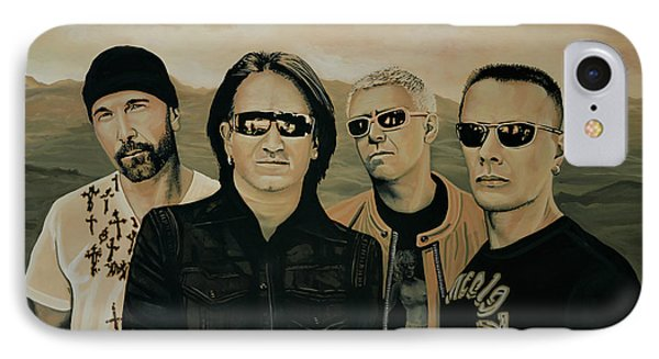 U2 Silver And Gold IPhone Case by Paul Meijering