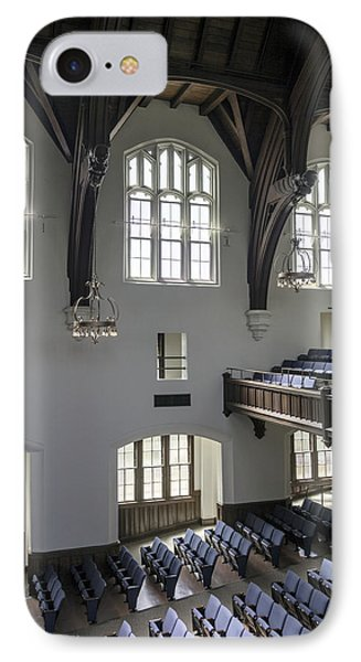 Uf University Auditorium Window And Balcony Detail Phone Case by Lynn Palmer