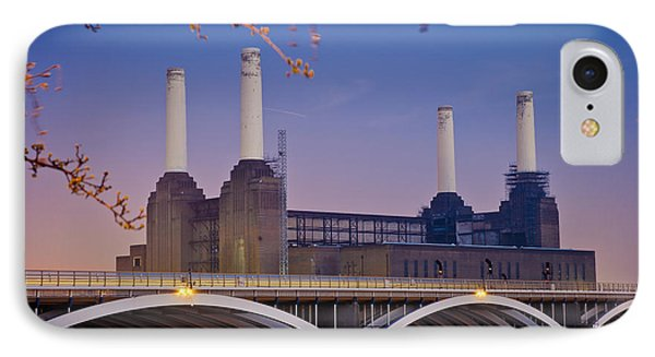 Uk, England, View Of Battersea Power Phone Case by Dosfotos