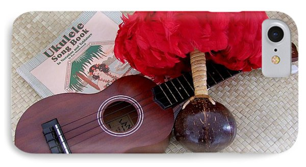 Ukulele Ipu And Songbook Phone Case by Mary Deal